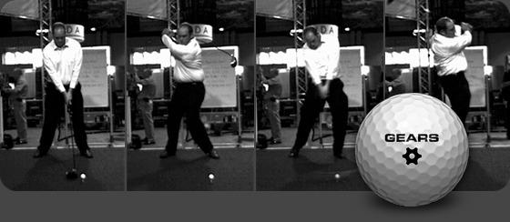 Video stills of Andy Horne's winning swing