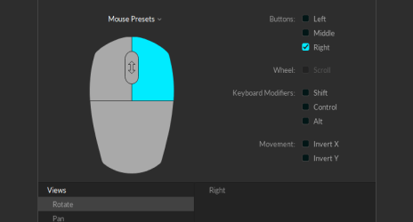 Mouse presets in Motive